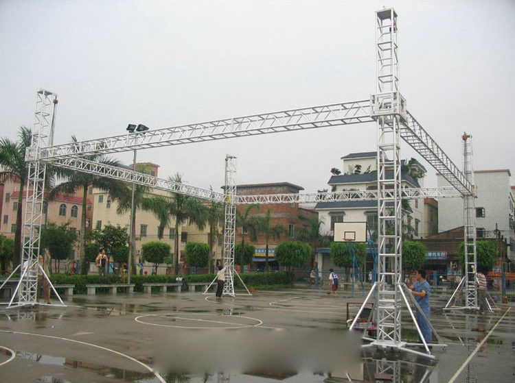Outdoor Aluminum Stage Truss With Aluminum Tube / LED Screen Truss