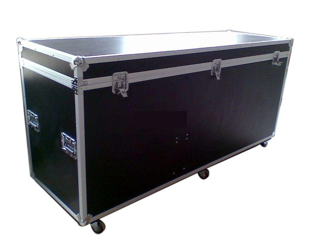 Black Wooden Standard Rack Flight Case Custom / 22U Flight Case
