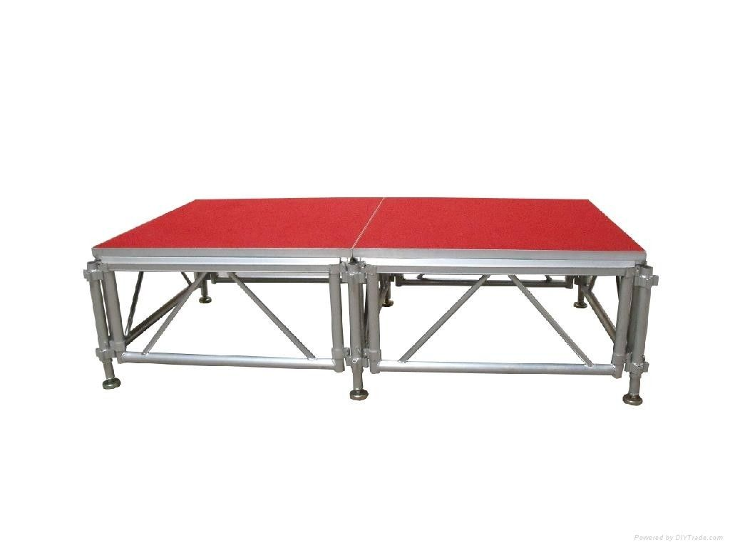 Exhibition Portable Moving Stage Platform / Aluminum Concert Stage