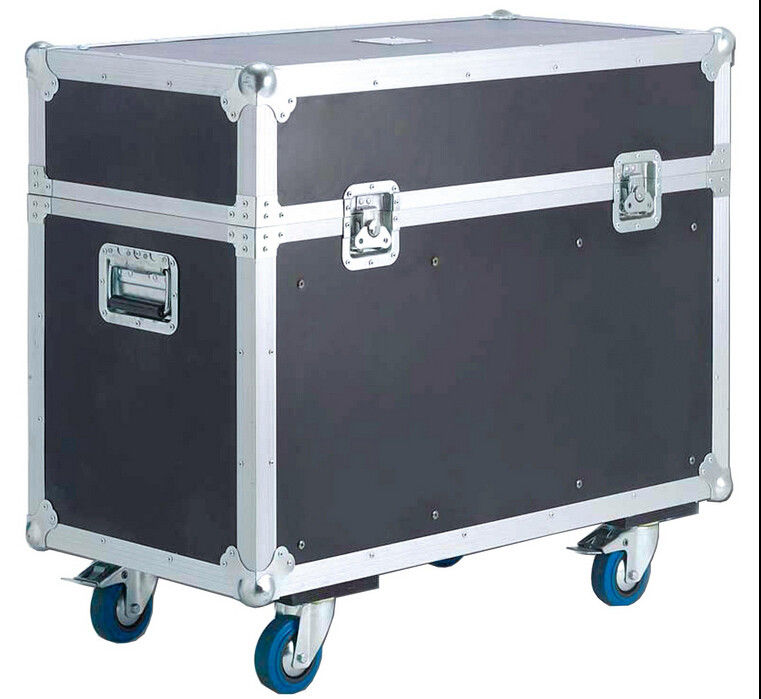 Orange Aluminum tool flight case with wheels for Stage Sound